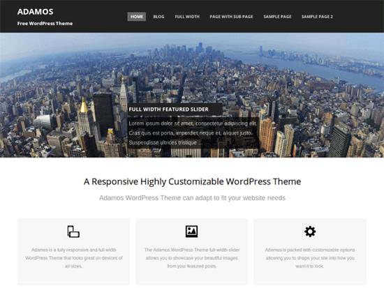 BEST 50 FREE RESPONSIVE WORDPRESS THEMES