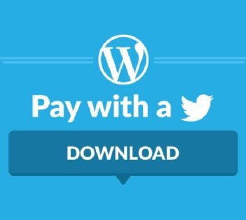 CARA MEMASANG TOMBOL PAY WITH A TWEET PADA WORDPRESS
