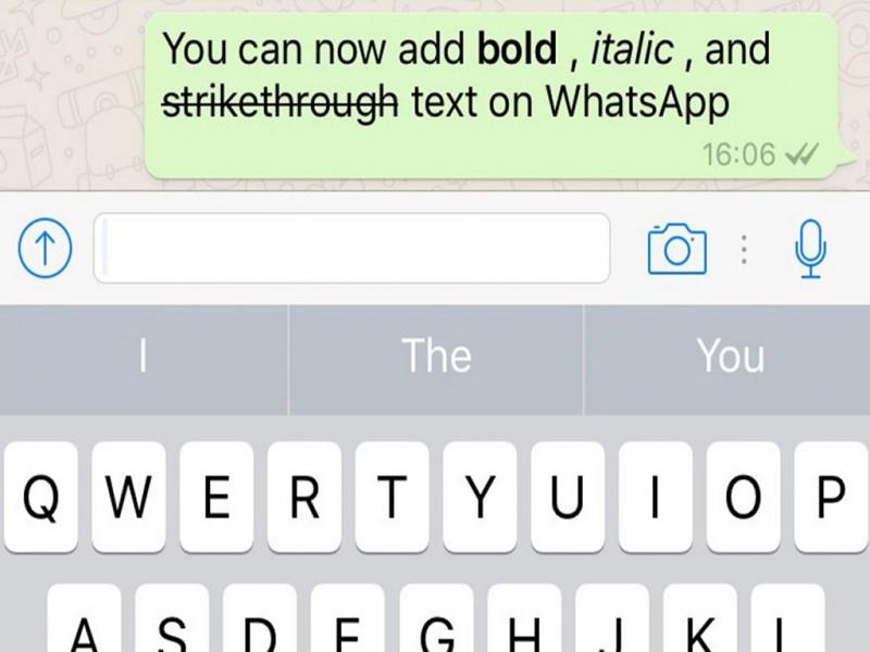 Cara Bold, Italic, Strikethrough Dari WhatsApp