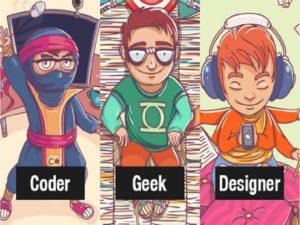 Programmer, Geek, dan Designer