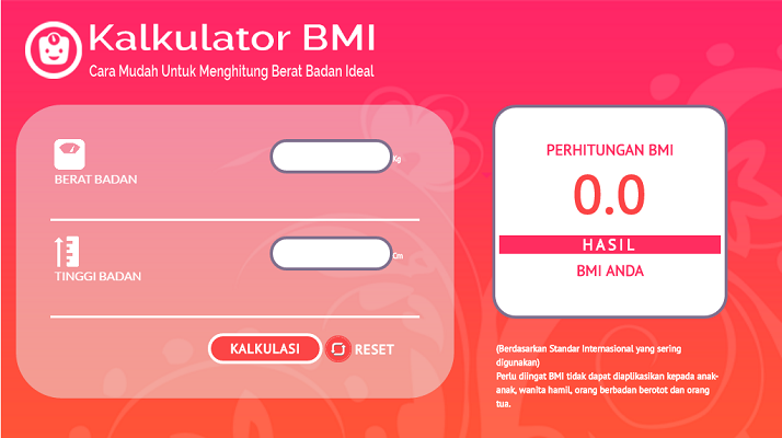 Plugin Interaktif Kalkulator Body Mass Index