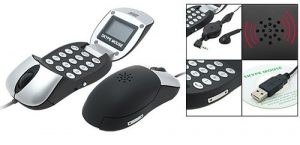 Optical PC mouse Skype Hands-free Speakerphone