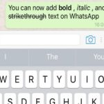 Cara Bold, Italic, Strikethrough Dari WhatsApp