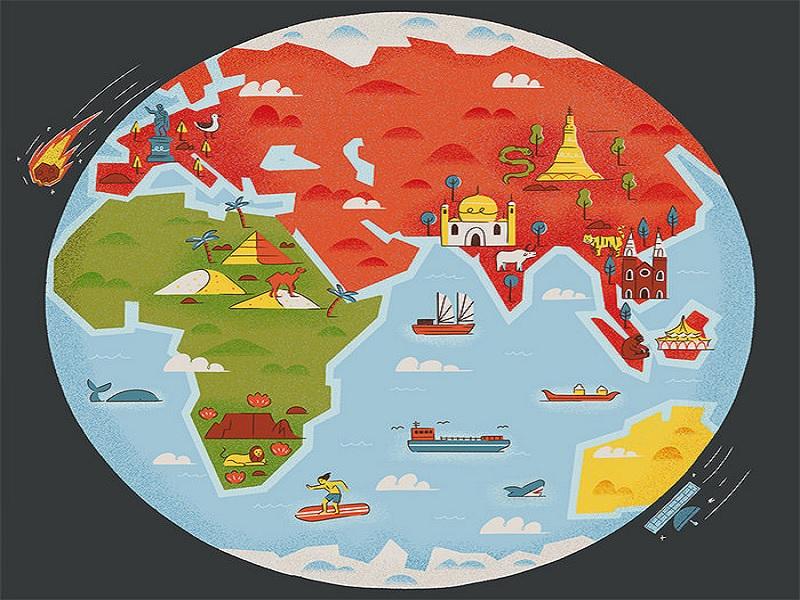 Pembuatan Peta Dunia Kreatif