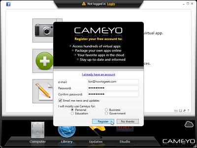kelebihan cameyo sebagai aplikasi portable