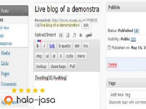 alat live blogging untuk blog siaran langsung