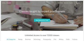 keuntungan belajar web desain dari Skillshare