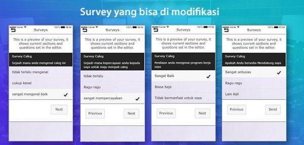 Aplikasi survey caleg