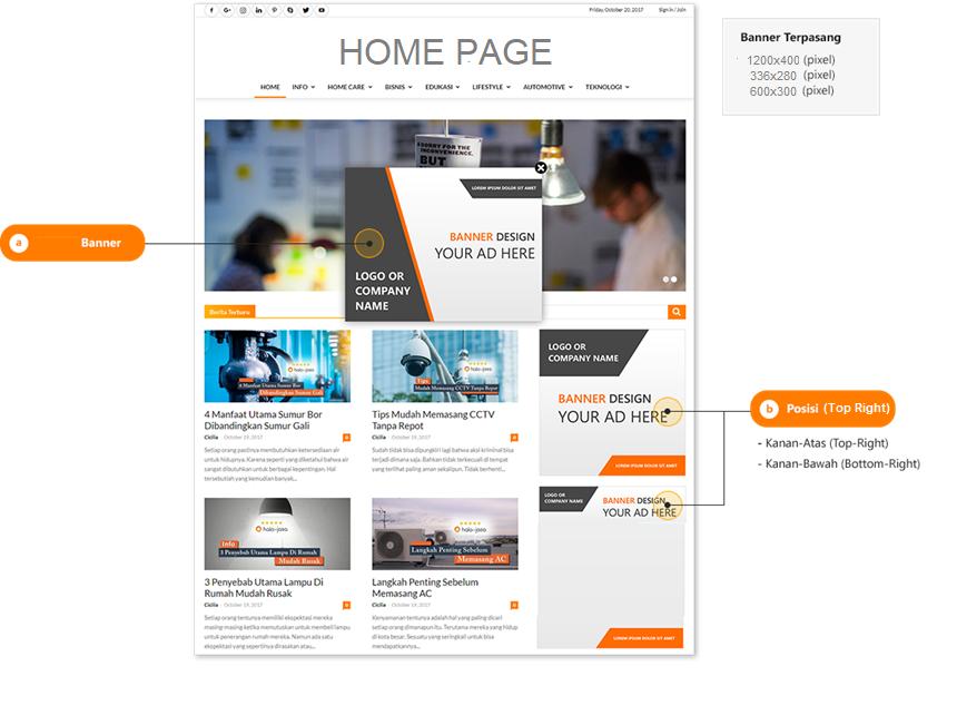 iklan internet portal berita